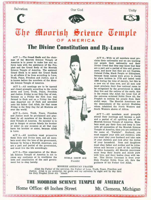 divine constitution and by-laws | Moorish Society